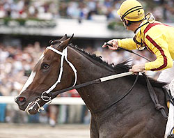 Rachel Alexandra beat all 3-year-old challengers in the Haskell Invitational at Monmouth Park.