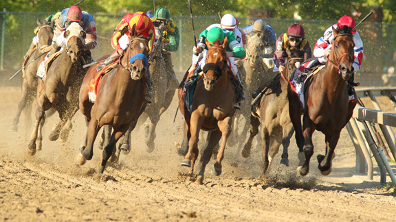 Lookin at Lucky wins the Preakness as Super Saver tires