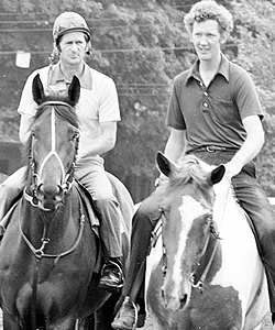 Trainer Billy Turner and exercise rider Mike Kennedy