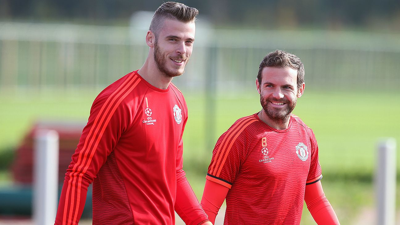 David De Gea 'relaxed' at Man United amid Real Madrid talk - Juan ...