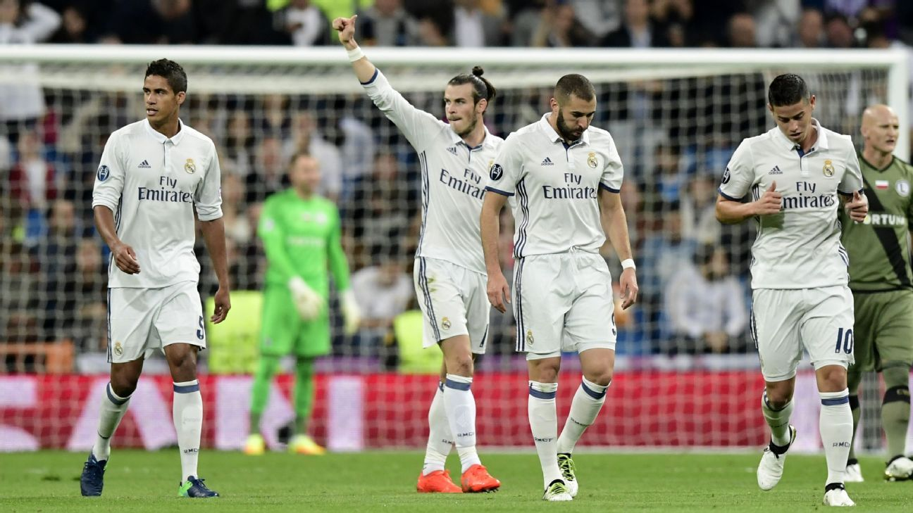 Gareth Bale opened the scoring for Real Madrid at home on Tuesday.