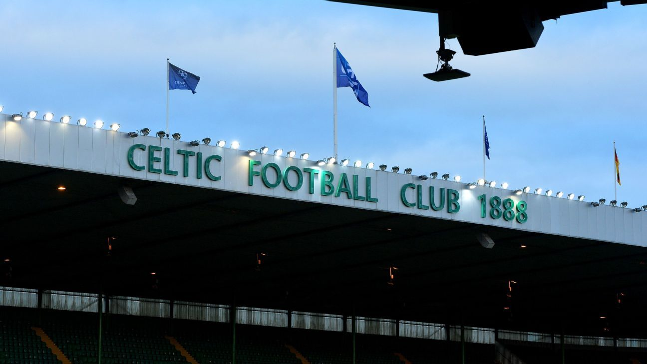 A general view of the Celtic Park stadium.