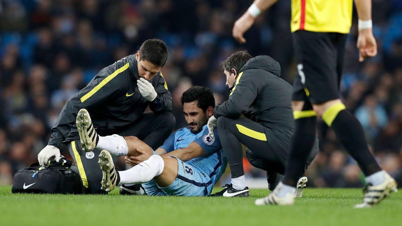 Image result for ilkay gundogan injury