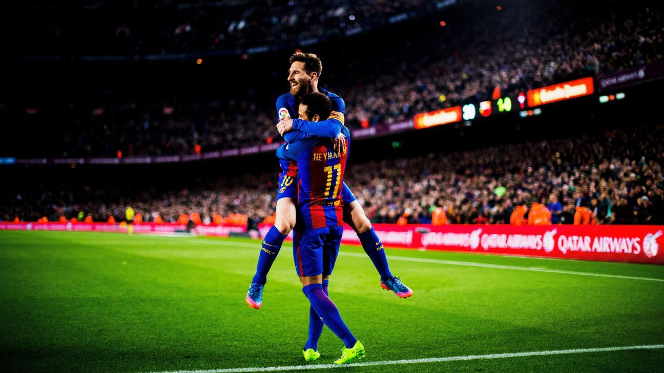 Lionel Messi was in peak form as Barcelona won easily.