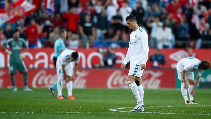 Cristiano Ronaldo & Co. had no response for Girona's two second-half goals .