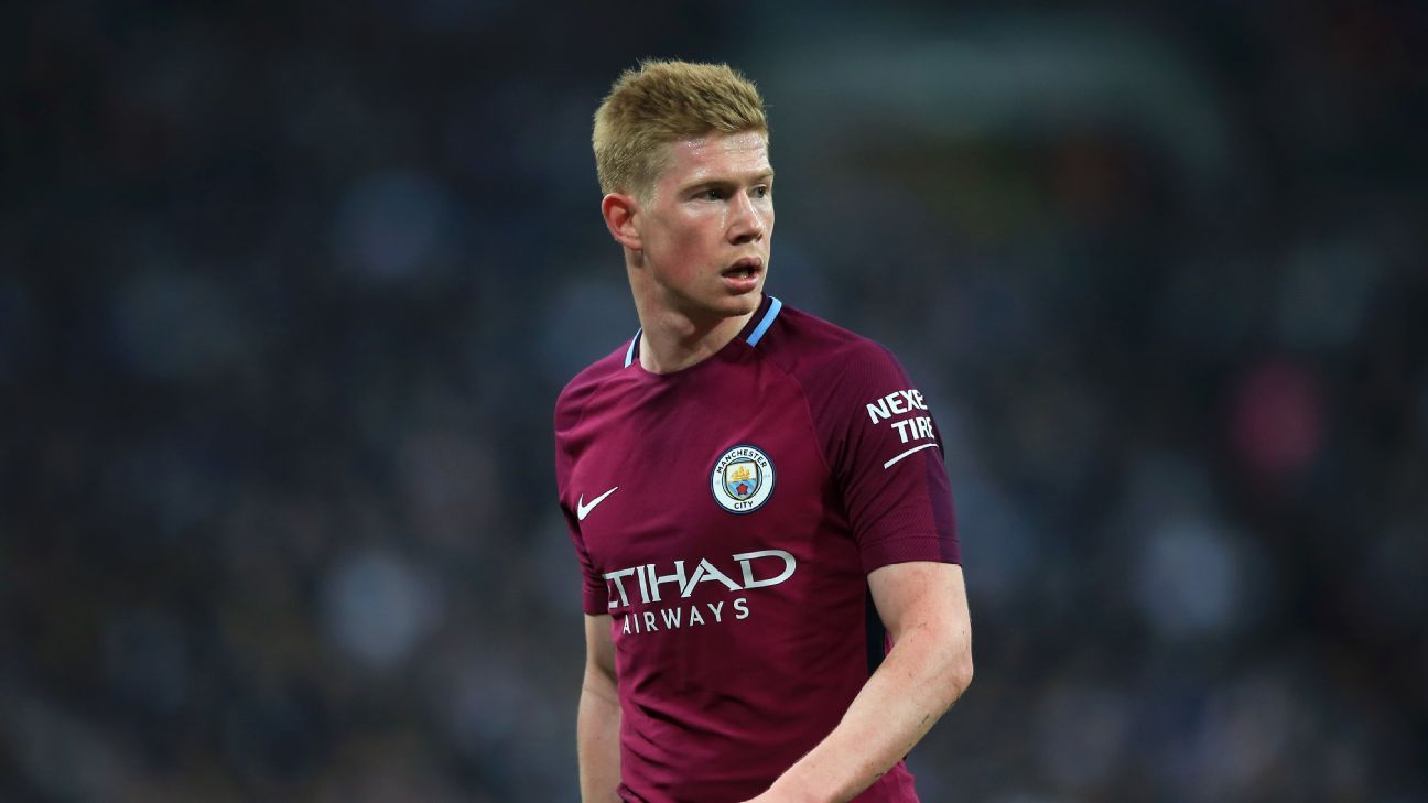 Kevin De Bruyne has started to look a bit tired from playing in 48 of Man City's 53 games so far.