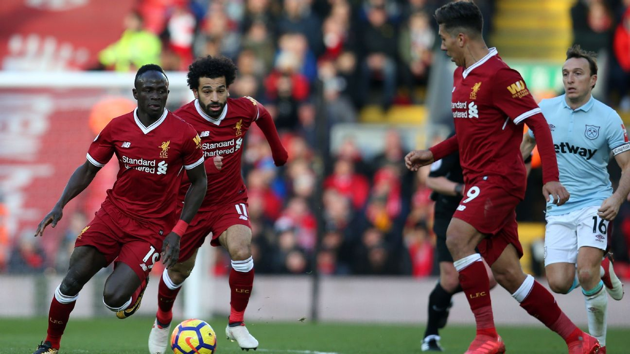 Sadio Mane, Mohamed Salah and Roberto Firmino have been in scintillating form for Liverpool.