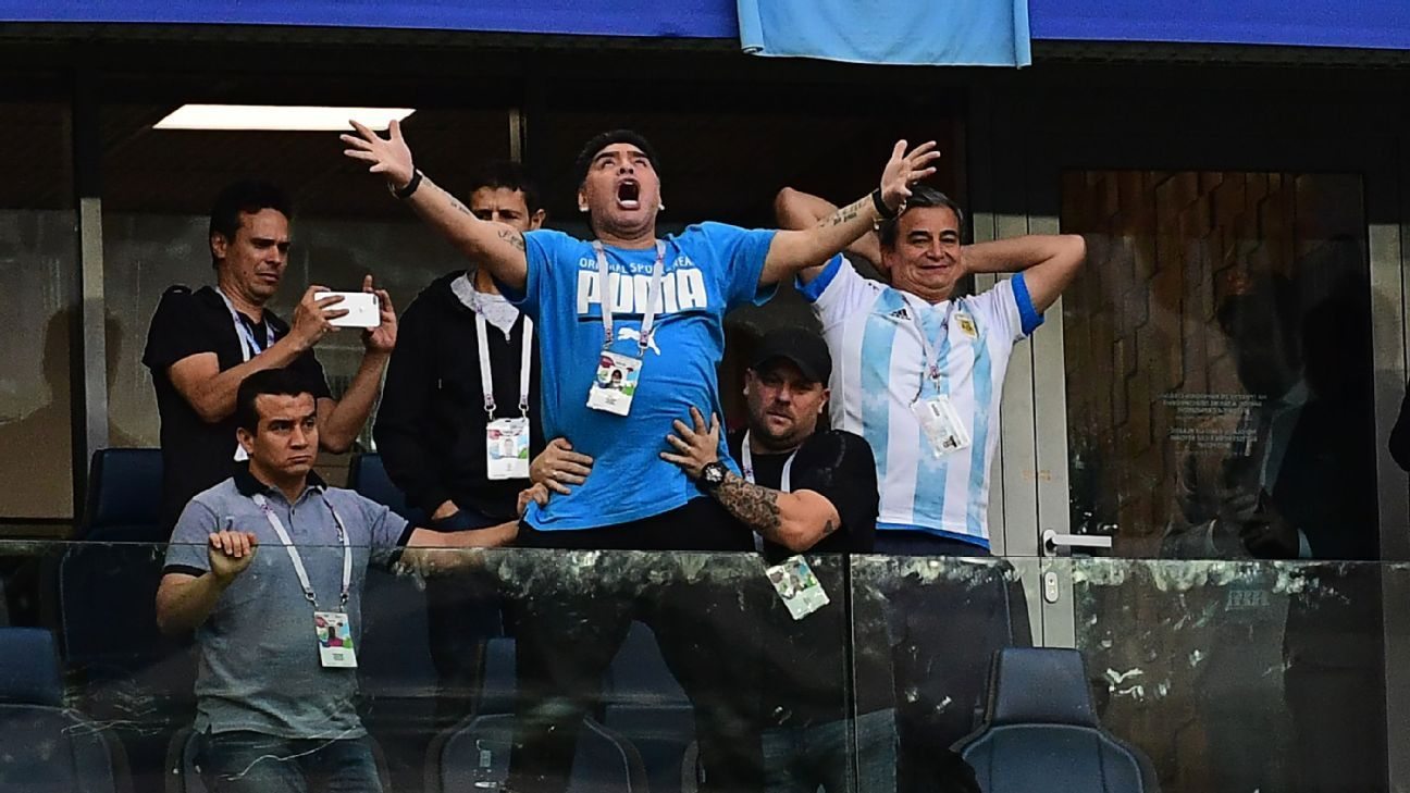 Maradona's histrionics made him more watchable than Argentina in their three group games.