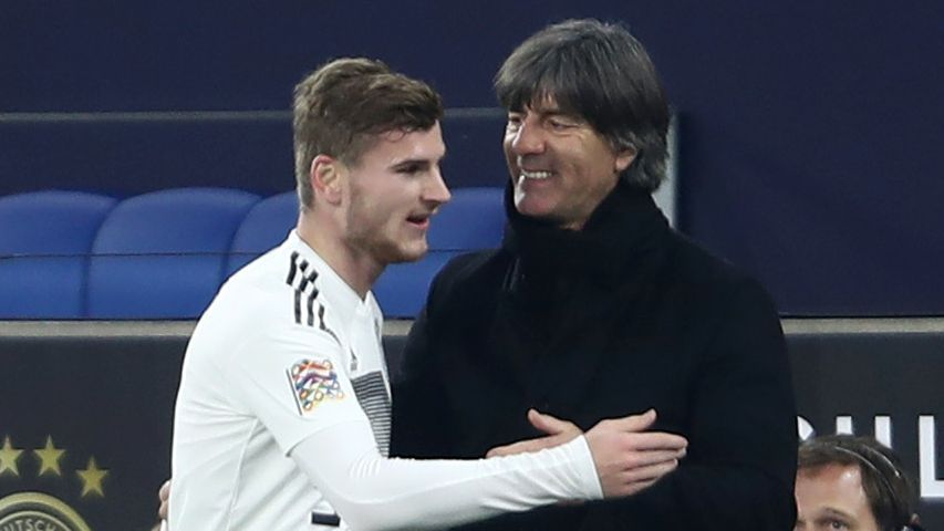 Timo Werner and Joachim Low