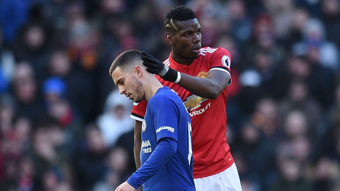 Paul Pogba and Eden Hazard are both top players but there are reasons to believe Pogba is due for a boost while Hazard could come back down to earth in the second half of the season.