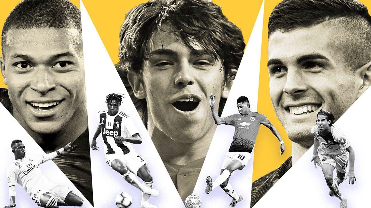 Kylian Mbappe Christian Pulisic and Frenkie de Jong lead soccer's 30 best players under 21 2