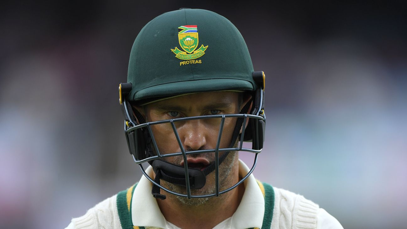 Mark Boucher says he has 'no clue' whether Faf du Plessis is poised for Test retirement | ESPNcricinfo.com - ESPNcricinfo