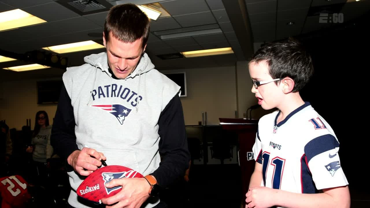 5cbef175d Ten-year-old Patriots fan s special bond with Tom Brady - ESPN Video