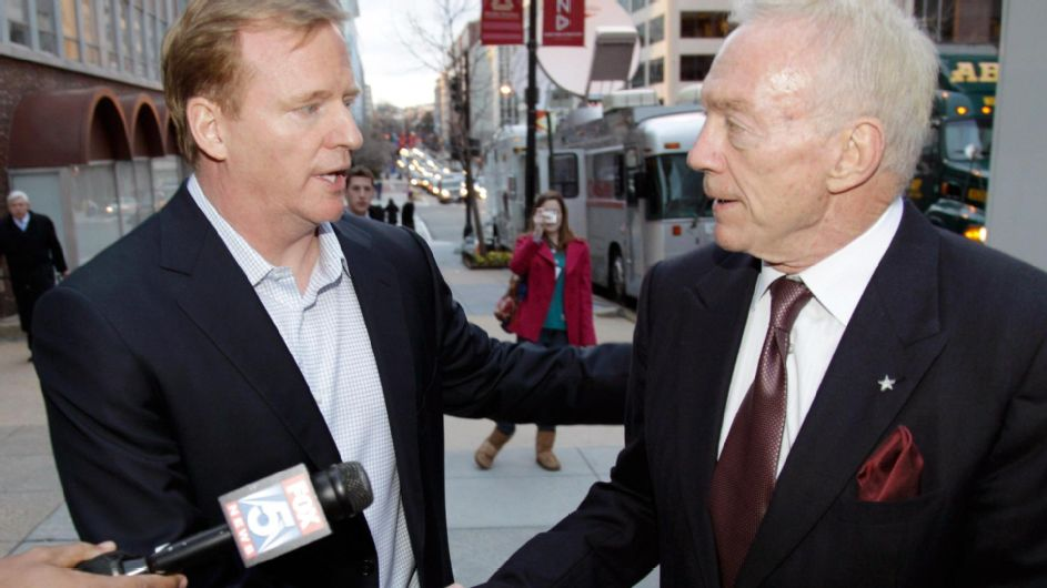 Roger Goodell has a Jerry Jones problem, and nobody knows how it will end