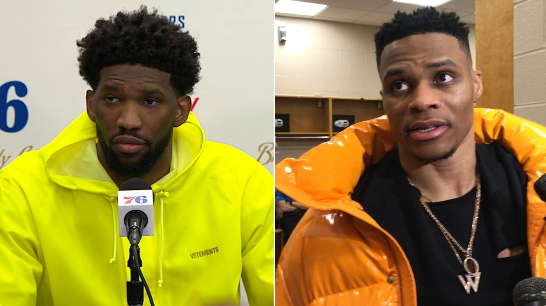Russell Westbrook, Joel Embiid add another chapter to rivalry after latest dust-up