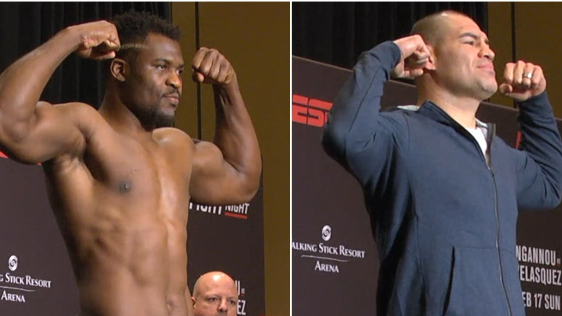 Cain Velasquez weighs in at 248 pounds for UFC return vs. Francis Ngannou