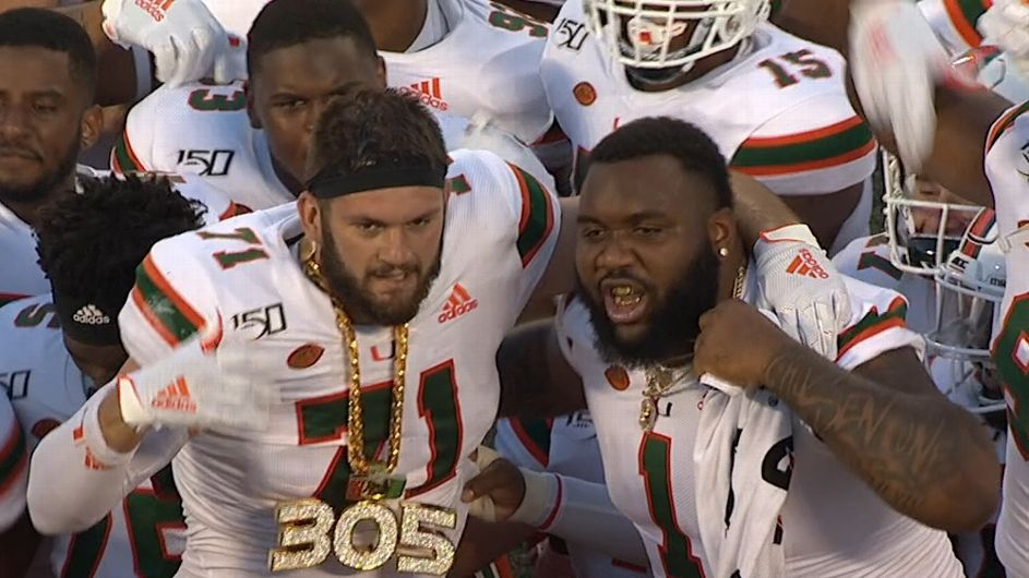 Sideline bling: Miami adds TD rings to TO chain