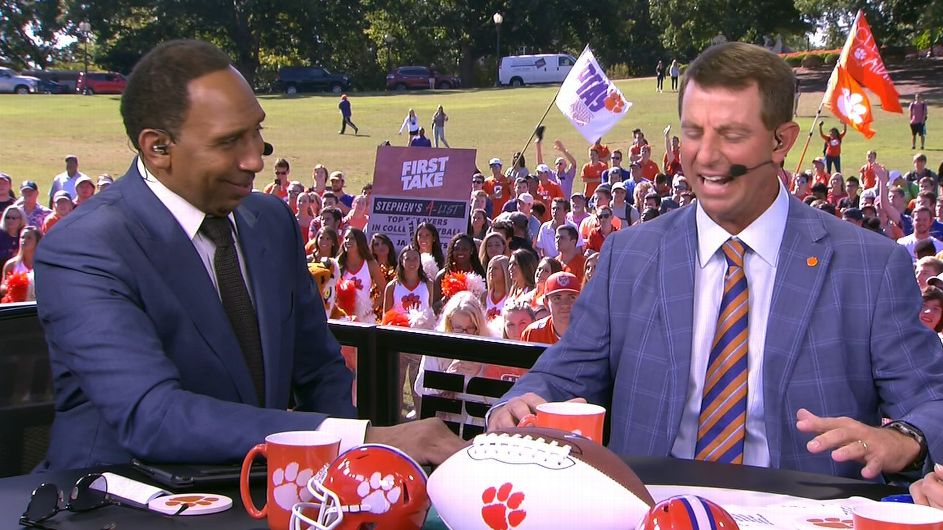 Swinney does his best Stephen A. impression - ESPN Video