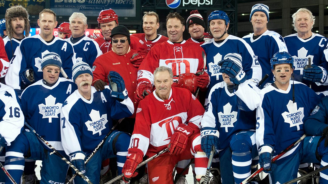 Toronto Maple Leafs, Detroit Red Wings alumni game rosters ...