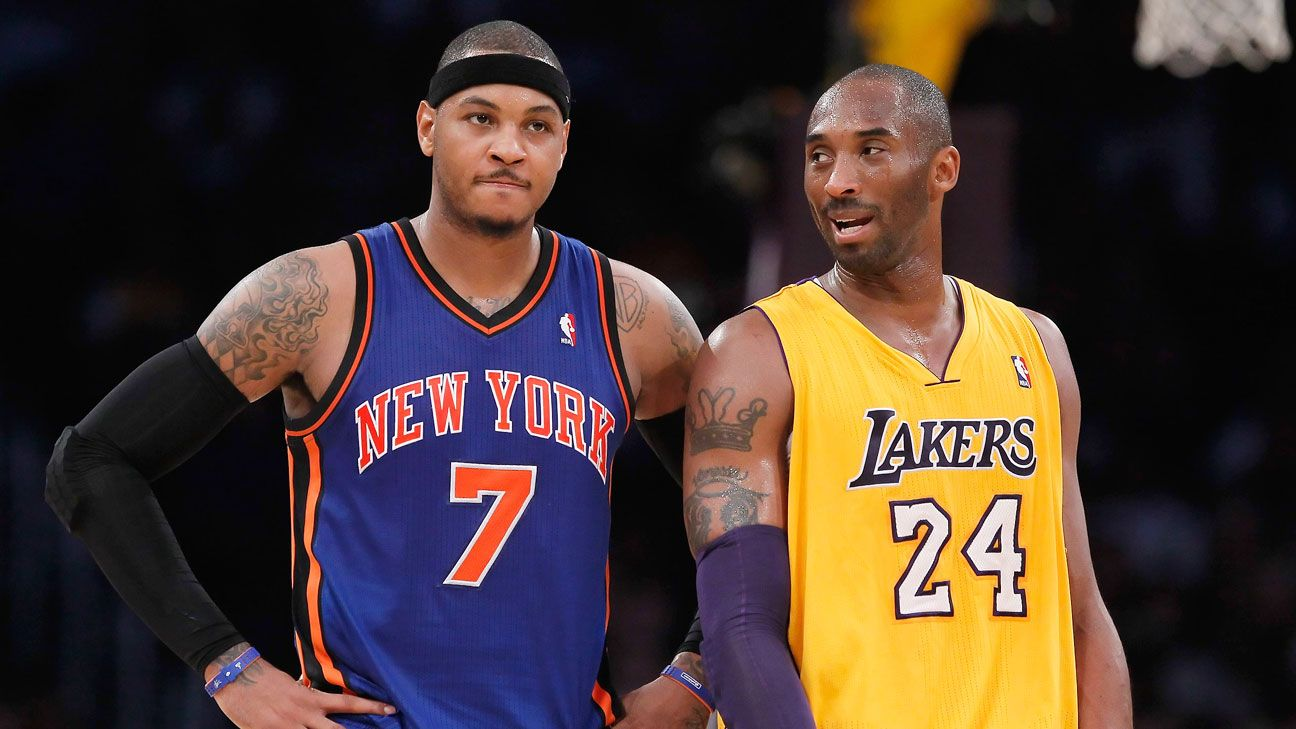 Kobe runs late for Melo meeting