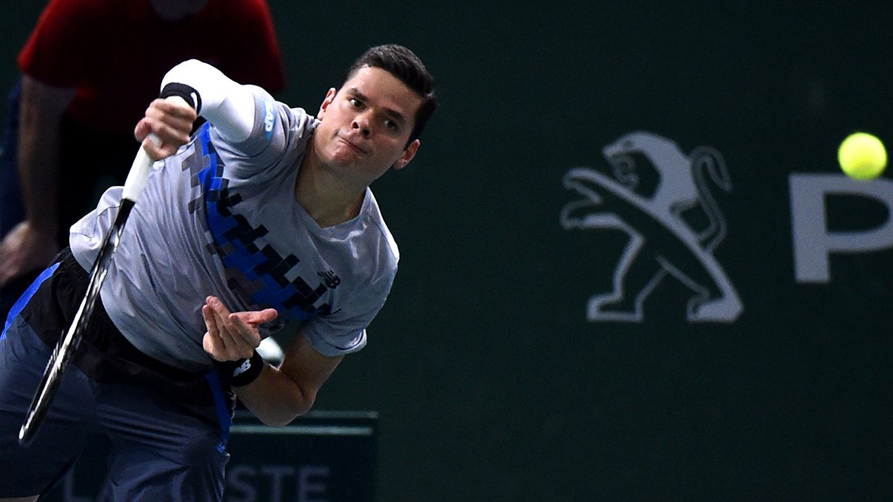Canada's Milos Raonic out of Davis Cup finals with back issue - ESPN