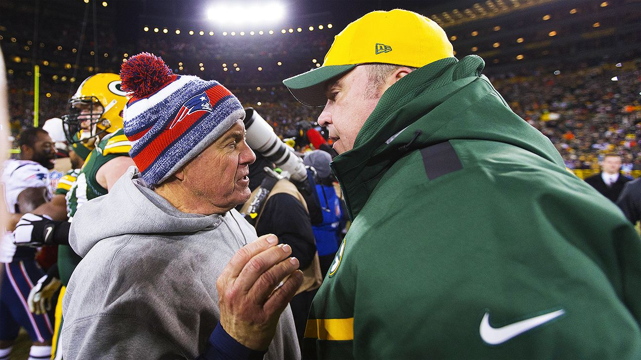 945e3d9203dbf3 Mutual respect binds coaches Bill Belichick and Mike McCarthy - NFL Nation-  ESPN