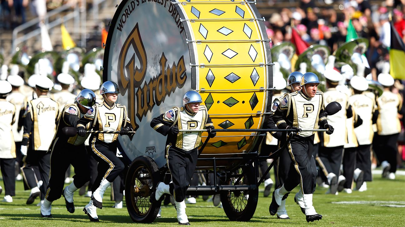 Purdue to feature band's barred giant drum outside Notre Dame Stadium
