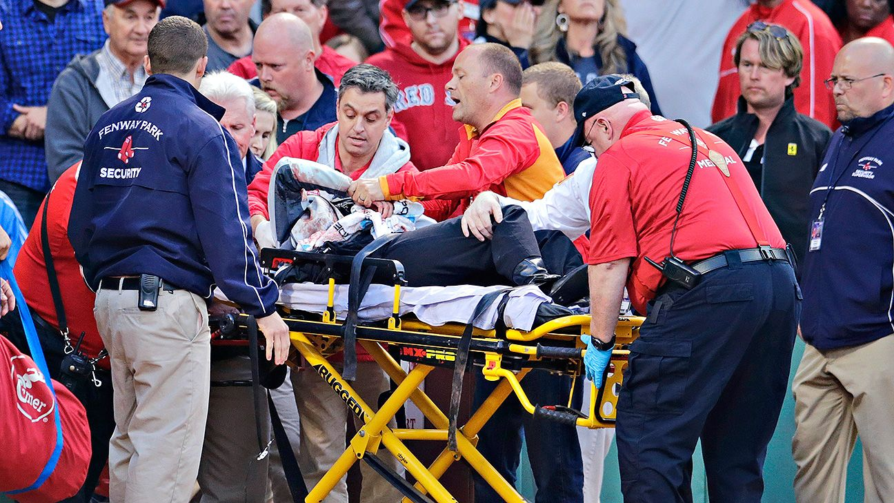 Woman injured by broken bat at Fenway Park remains in serious condition