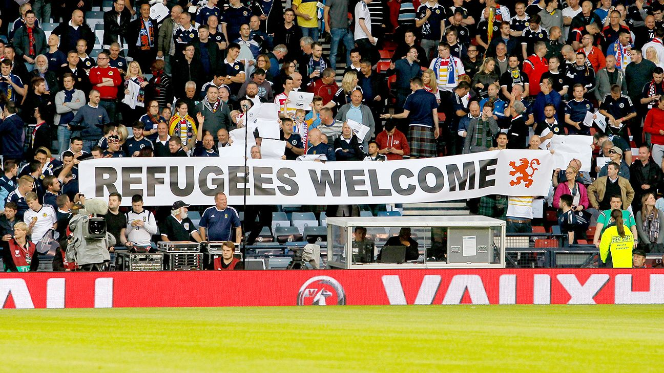 Euro sides donate €1 per ticket to refugees
