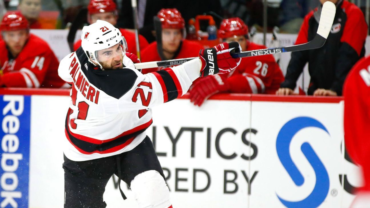 NHL -- New Jersey Devils' Kyle Palmieri earning a big payday back home