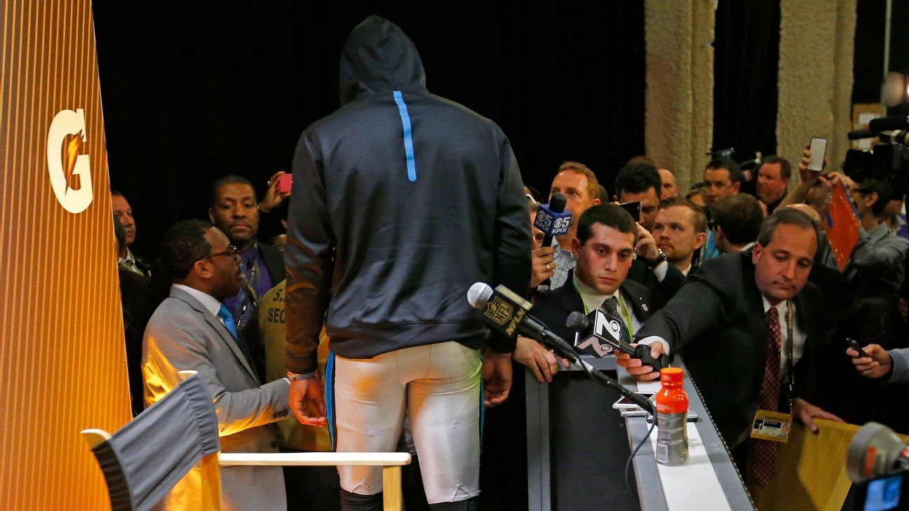 Denver's Chris Harris might have played a role in Cam Newton walking out on media
