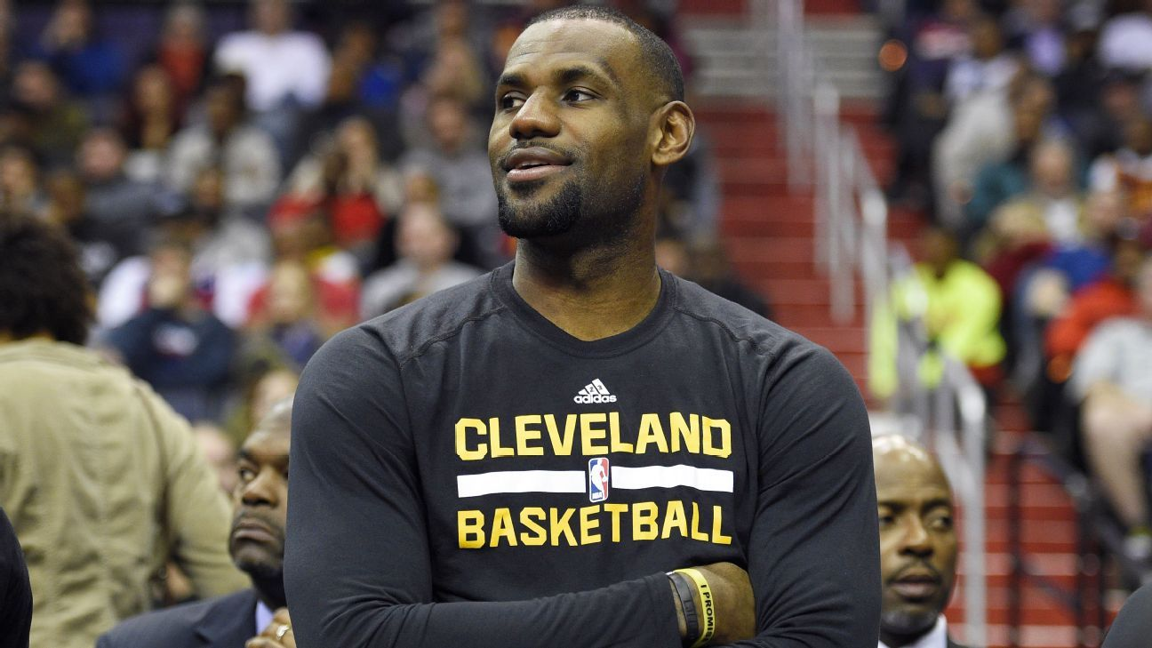 LeBron James of Cleveland Cavaliers likes to express his