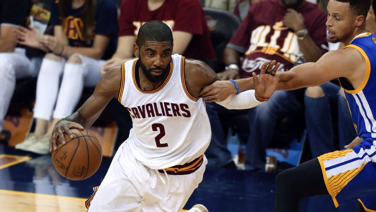 5747e844abd2 Kyrie Irving of Cleveland Cavaliers hurts foot