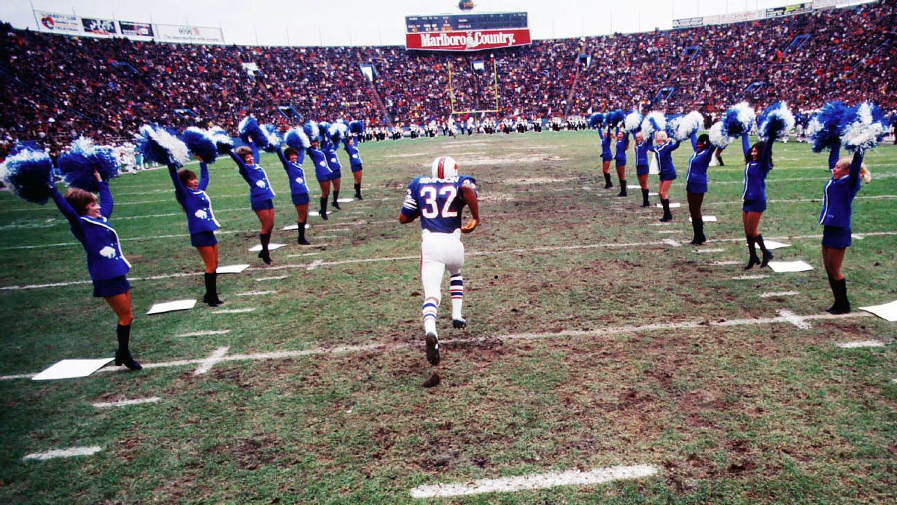 Senorise Perry is wearing No. 32 for the Bills, becoming the first player to wear the number since O.J. Simpson last wore it in 1977.