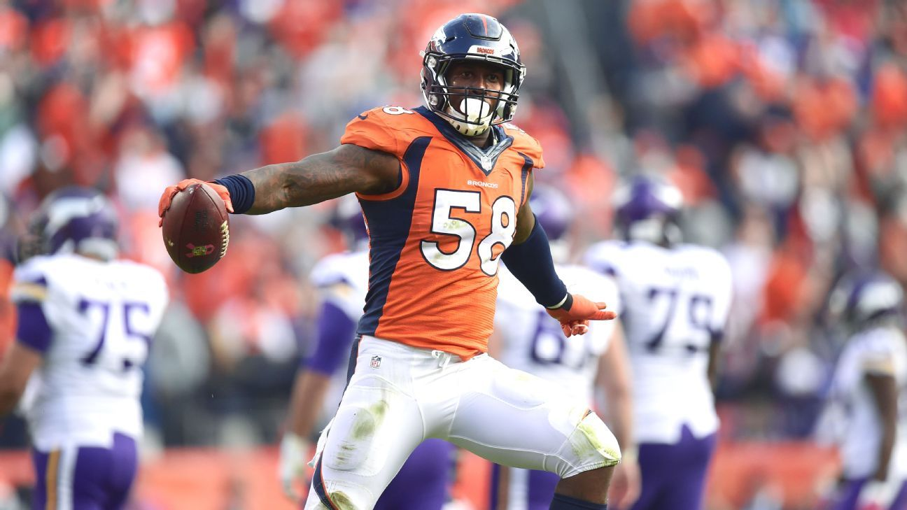 fb169dfb6fd Von Miller dons first-ever pair of  Yeezy  cleats in NFL opener
