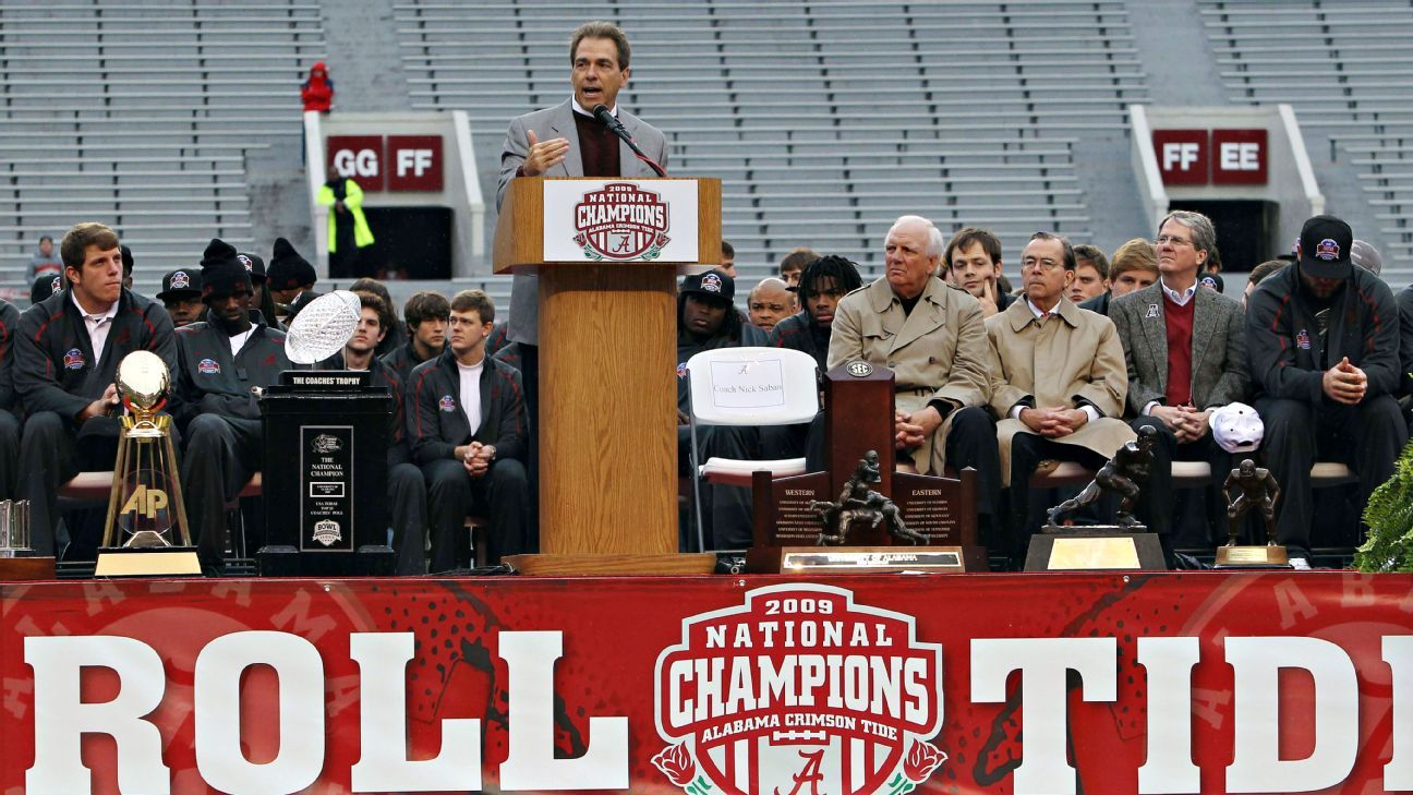 Nick Sabans Speech That Launched The Alabama Crimson Tide Dynasty