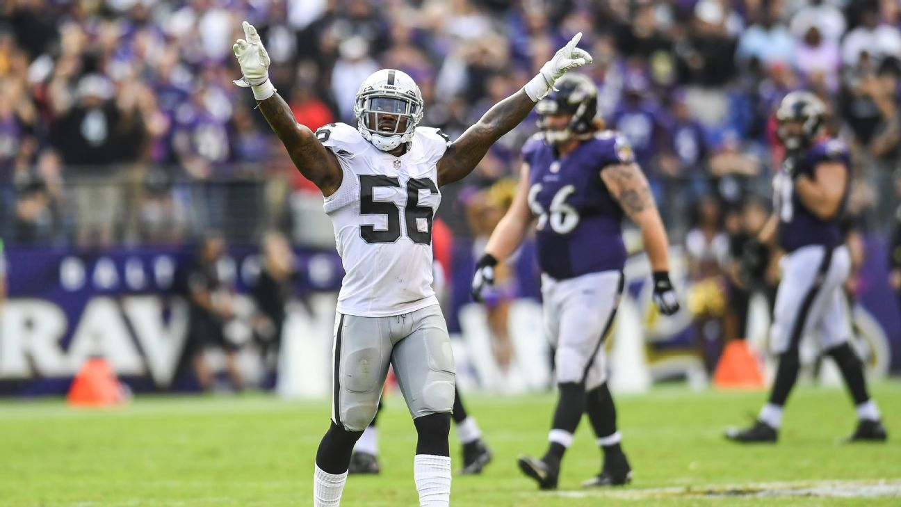 f8e4fa962 Should the Oakland Raiders re-sign LB Daren Bates  - Oakland Raiders Blog-  ESPN