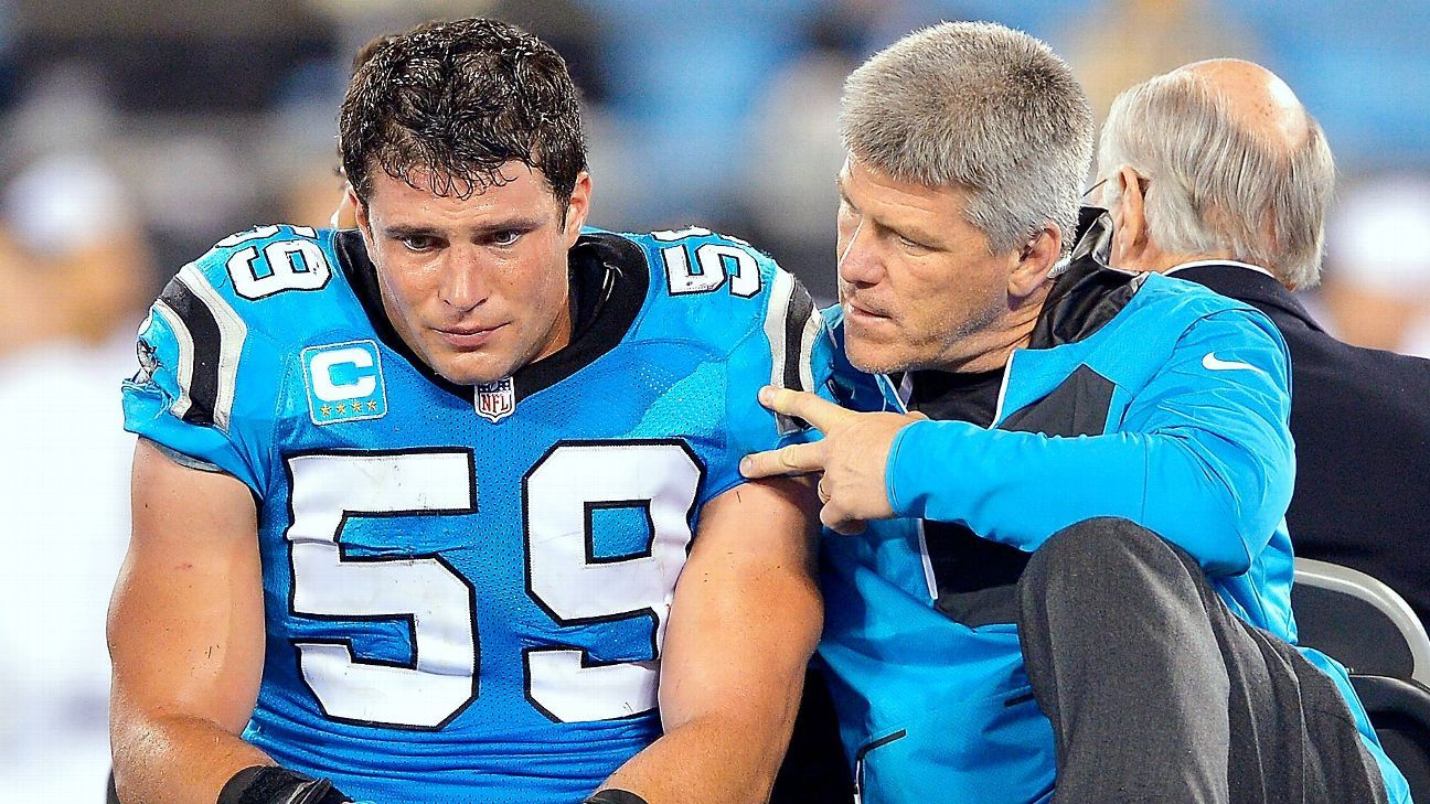 new style 40821 34444 Carolina Panthers LB Luke Kuechly suffered concussion in ...