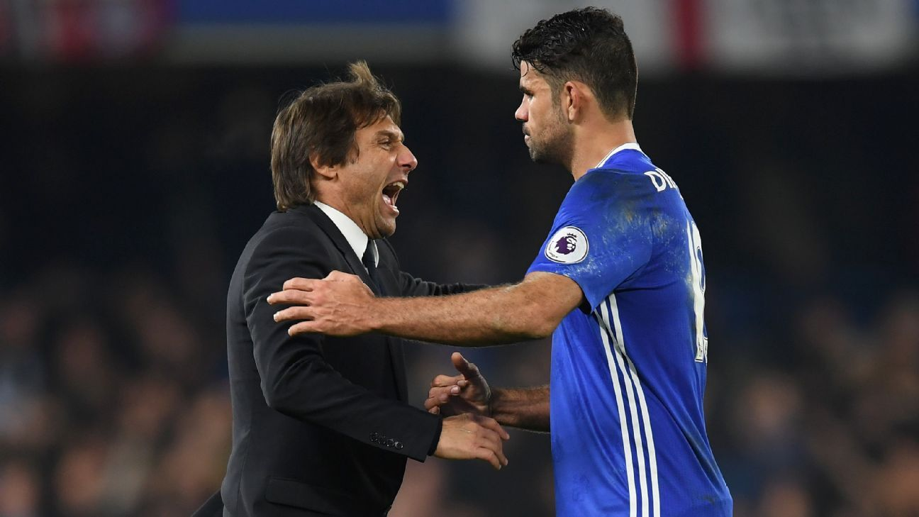 Diego Costa dropped vs Leicester after training row with Antonio ...