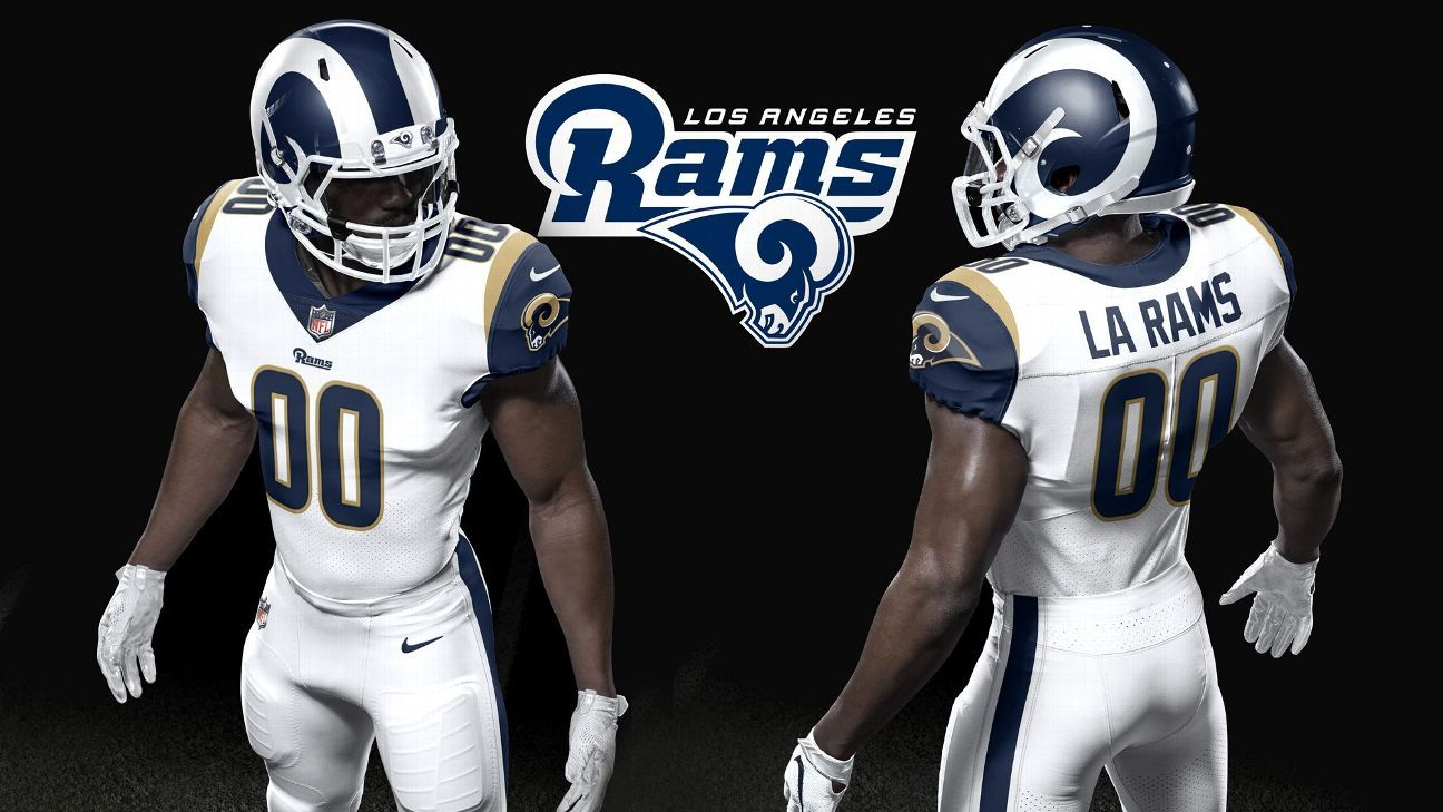 sale retailer 08d1a 1bfb8 Los Angeles Rams unveil retro overhaul of uniforms, helmet