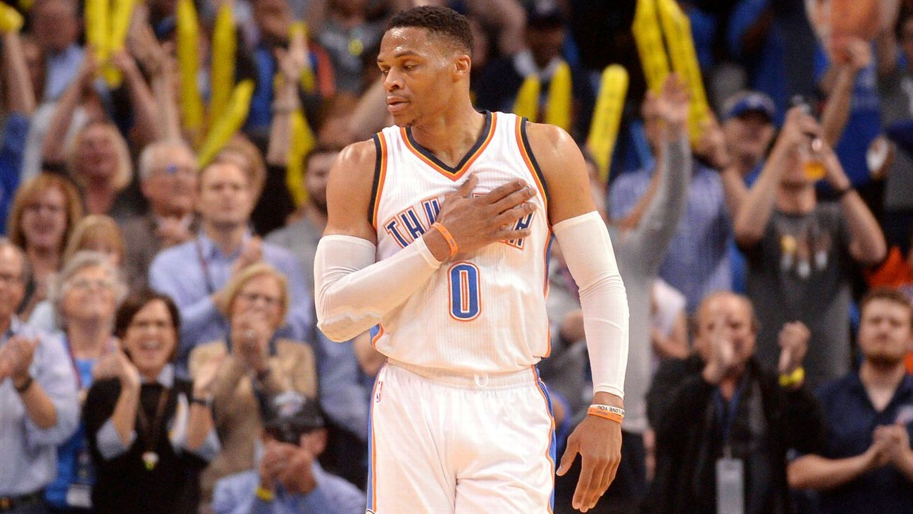 7c13b4212653 Russell Westbrook tallies 41st triple-double to tie Oscar Robertson s record