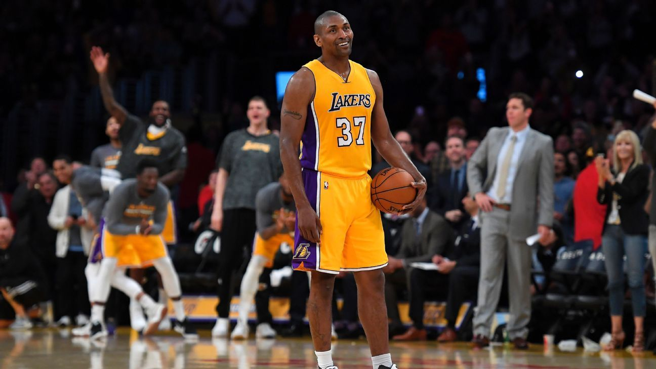 70d8f643173 NBA - Metta World Peace shines in what may be last home game of career