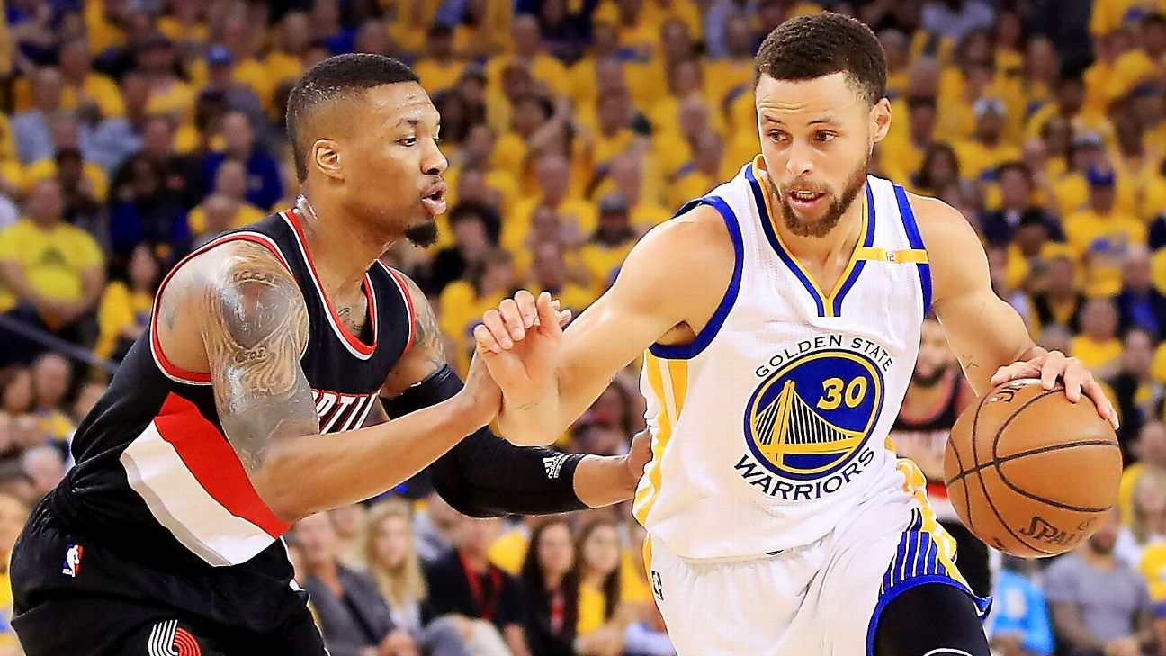 13f9eca927d7 The signature plays of the six biggest players in Warriors-Blazers