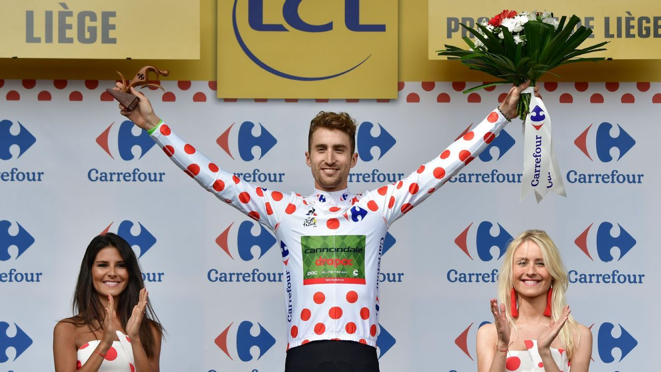 Polka dots for U.S. cyclist Taylor Phinney. But why polka dots?
