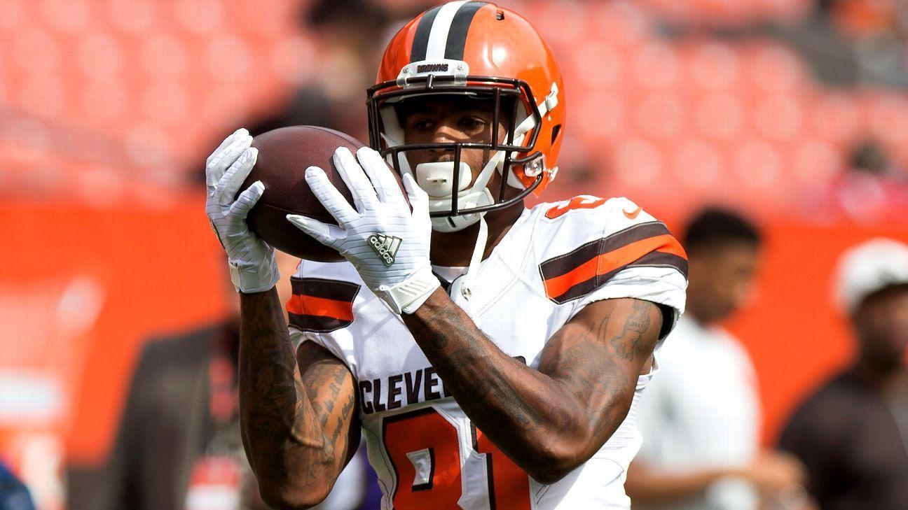 Rashard Higgins of Cleveland Browns week-to-week with MCL 53991ac15