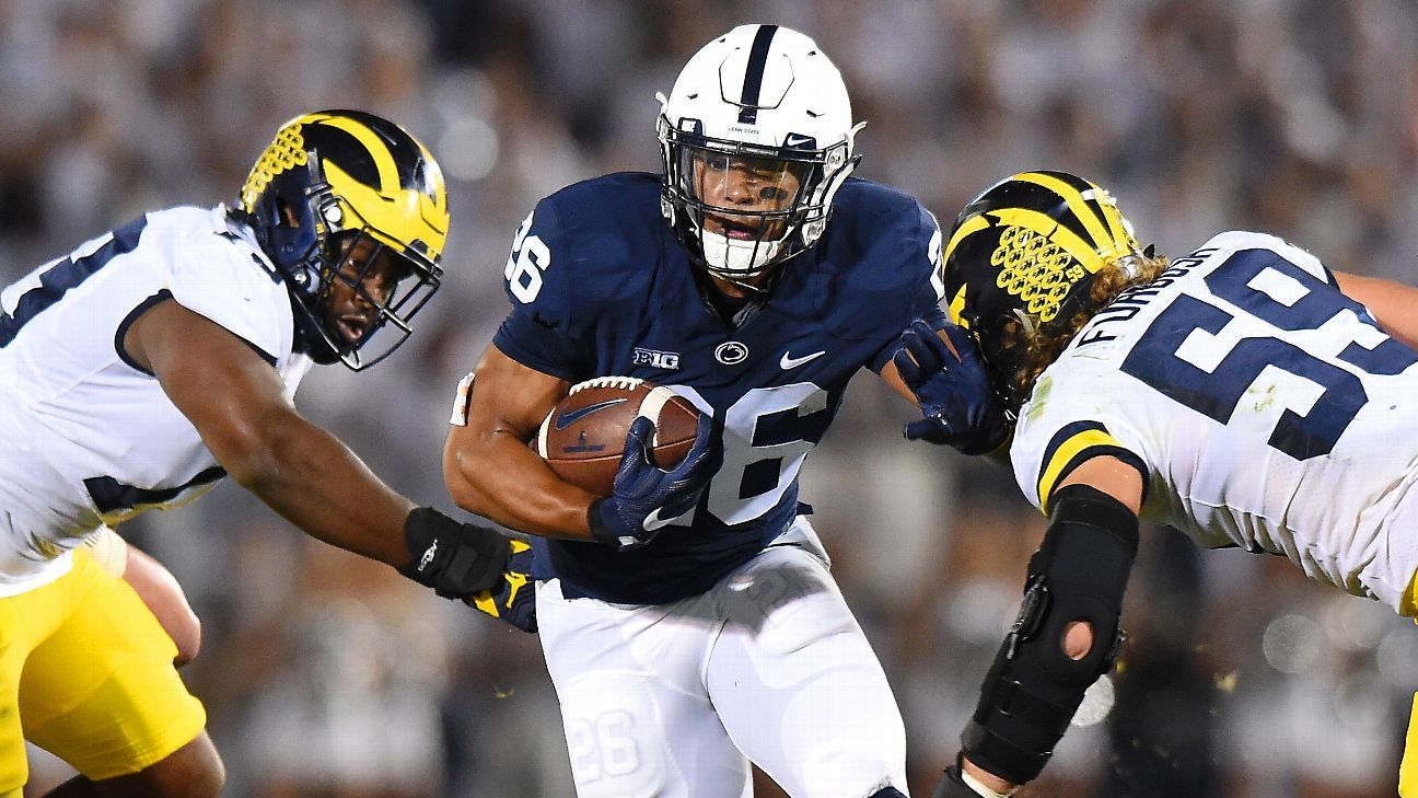 official photos 3b6fb c8a5c Running back Saquon Barkley doesn't work out at Penn State's ...
