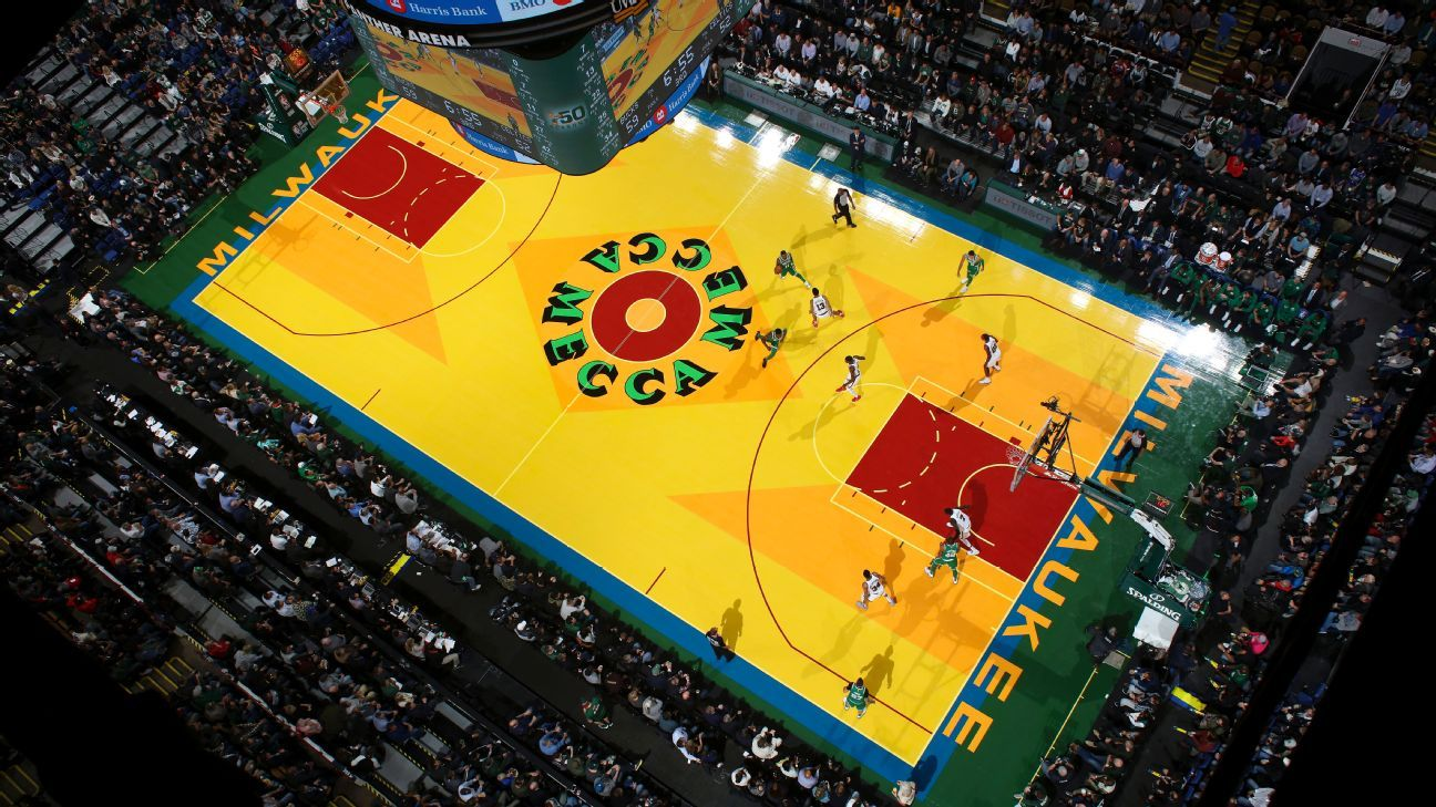 6394de7d0e3 Kyrie Irving of Boston Celtics says he enjoyed Milwaukee Bucks   Mecca   replica court