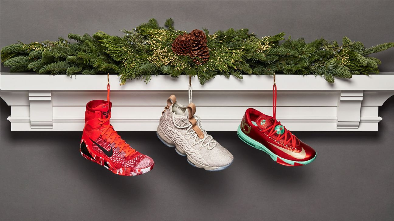 Christmas Sneakers.Past Christmas Day Sneakers From Lebron James Kevin Durant