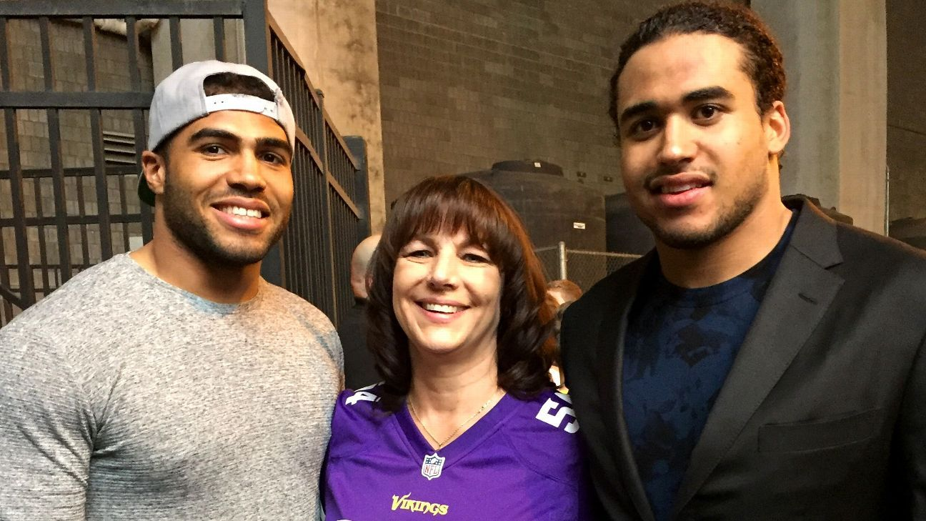 purchase cheap 916ac 4f318 Family embraces moment as Mychal, Eric Kendricks meet for ...