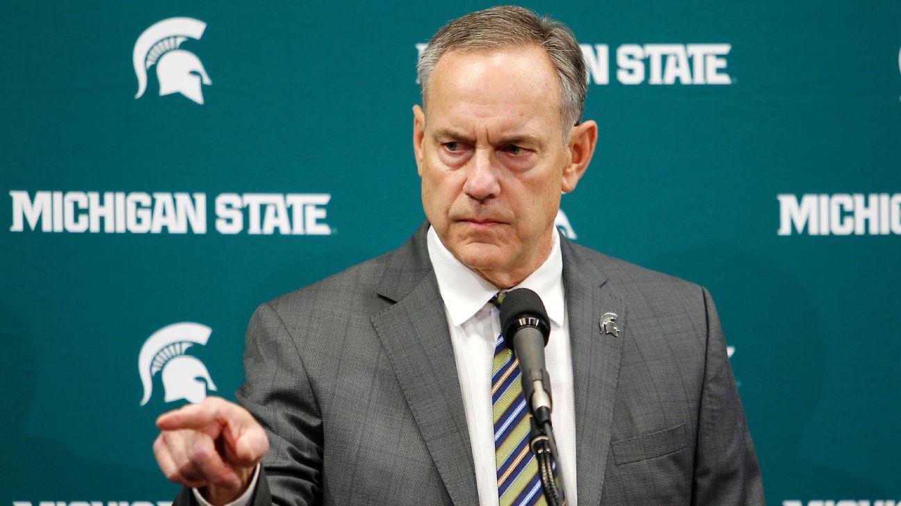 Michigan State Spartans Coach Mark Dantonio Denies